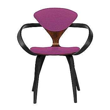 Classic Walnut Seat, Ebony Lacquer Arms & Legs / Divina 662
