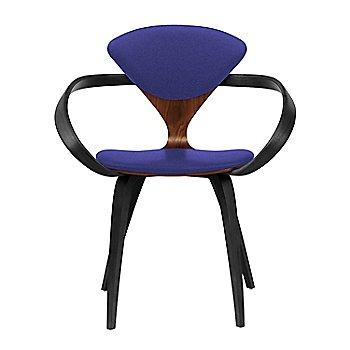 Classic Walnut Seat, Ebony Lacquer Arms & Legs / Divina 684
