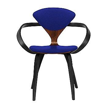 Classic Walnut Seat, Ebony Lacquer Arms & Legs / Divina 686