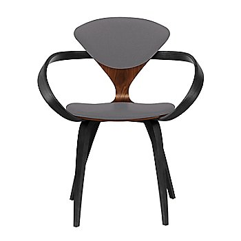 Classic Walnut Seat, Ebony Lacquer Arms & Legs / Divina 691