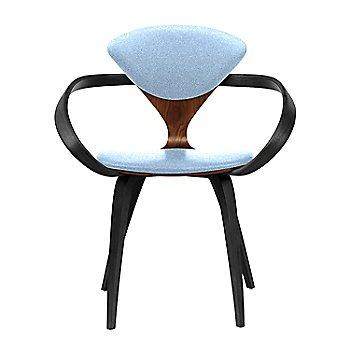 Classic Walnut Seat, Ebony Lacquer Arms & Legs / Divina 712