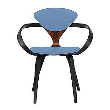 Classic Walnut Seat, Ebony Lacquer Arms & Legs / Divina 742
