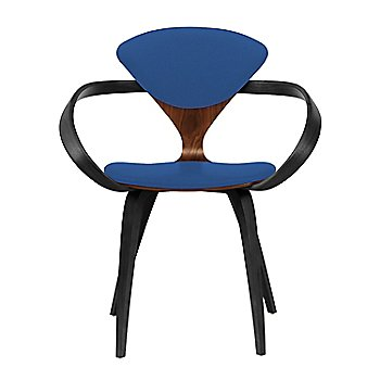 Classic Walnut Seat, Ebony Lacquer Arms & Legs / Divina 756