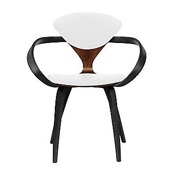 Classic Walnut Seat, Ebony Lacquer Arms & Legs / Sabrina Leather White