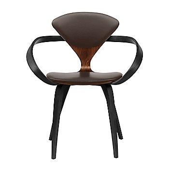 Classic Walnut Seat, Ebony Lacquer Arms & Legs / Sabrina Leather Coffee Bean