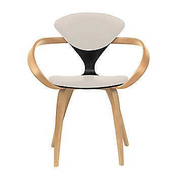 Ebony Lacquer Seat, Natural Beech Arms & Legs / Vincenza Leather VZ-2122