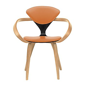 Ebony Lacquer Seat, Natural Beech Arms & Legs / Vincenza Leather VZ-2125