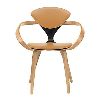 Ebony Lacquer Seat, Natural Beech Arms & Legs / Vincenza Leather VZ-2111