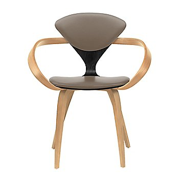 Ebony Lacquer Seat, Natural Beech Arms & Legs / Vincenza Leather VZ-2101