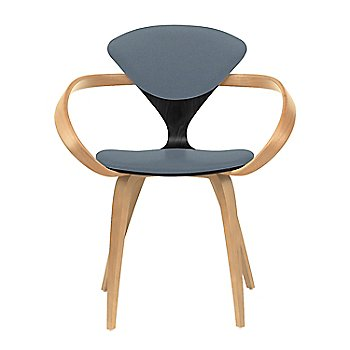 Ebony Lacquer Seat, Natural Beech Arms & Legs / Divina 154