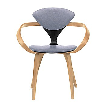 Ebony Lacquer Seat, Natural Beech Arms & Legs / Divina 173