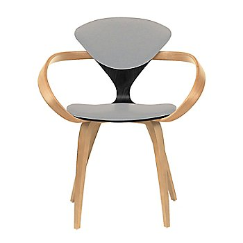 Ebony Lacquer Seat, Natural Beech Arms & Legs / Divina 224