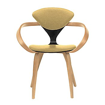 Ebony Lacquer Seat, Natural Beech Arms & Legs / Divina 236
