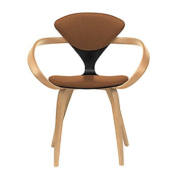 Ebony Lacquer Seat, Natural Beech Arms & Legs / Divina 346