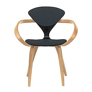 Ebony Lacquer Seat, Natural Beech Arms & Legs / Divina 384