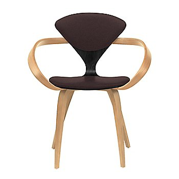 Ebony Lacquer Seat, Natural Beech Arms & Legs / Divina 393