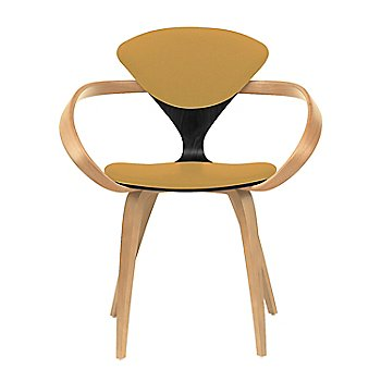Ebony Lacquer Seat, Natural Beech Arms & Legs / Divina 444