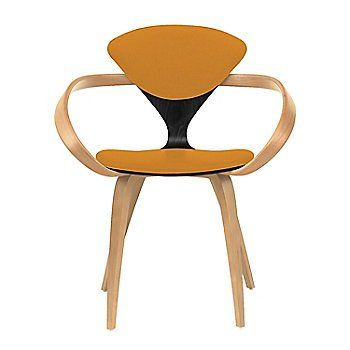 Ebony Lacquer Seat, Natural Beech Arms & Legs / Divina 536