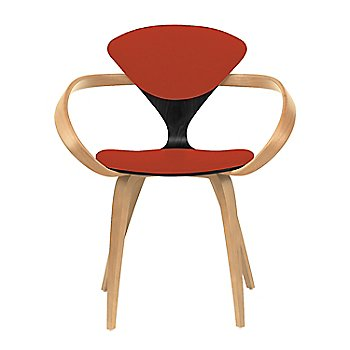 Ebony Lacquer Seat, Natural Beech Arms & Legs / Divina 584