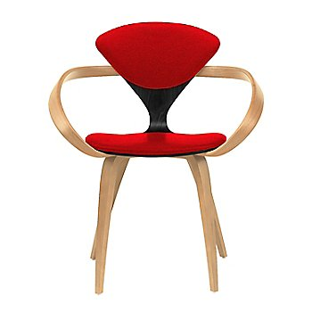 Ebony Lacquer Seat, Natural Beech Arms & Legs / Divina 623