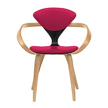 Ebony Lacquer Seat, Natural Beech Arms & Legs / Divina 636
