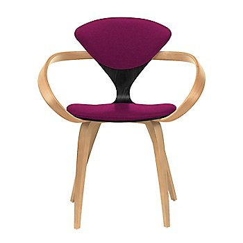 Ebony Lacquer Seat, Natural Beech Arms & Legs / Divina 652
