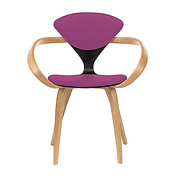 Ebony Lacquer Seat, Natural Beech Arms & Legs / Divina 662