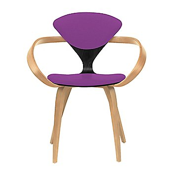 Ebony Lacquer Seat, Natural Beech Arms & Legs / Divina 666