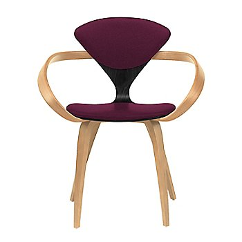 Ebony Lacquer Seat, Natural Beech Arms & Legs / Divina 671