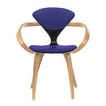 Ebony Lacquer Seat, Natural Beech Arms & Legs / Divina 684