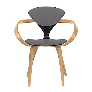 Ebony Lacquer Seat, Natural Beech Arms & Legs / Divina 691