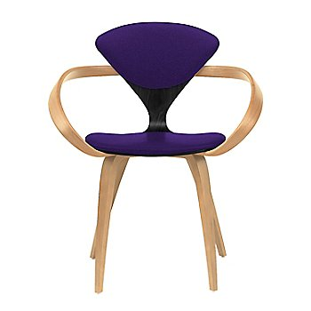 Ebony Lacquer Seat, Natural Beech Arms & Legs / Divina 692
