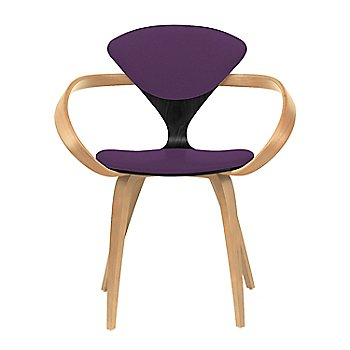 Ebony Lacquer Seat, Natural Beech Arms & Legs / Divina 696