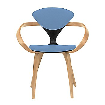 Ebony Lacquer Seat, Natural Beech Arms & Legs / Divina 742