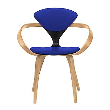 Ebony Lacquer Seat, Natural Beech Arms & Legs / Divina 782