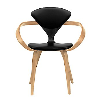 Ebony Lacquer Seat, Natural Beech Arms & Legs / Sabrina Leather Black