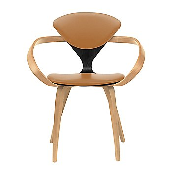 Ebony Lacquer Seat, Natural Beech Arms & Legs / Sabrina Leather Monarch
