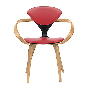 Ebony Lacquer Seat, Natural Beech Arms & Legs / Sabrina Leather Carmen