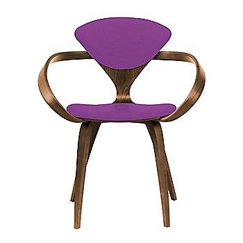 Natural Walnut Seat & Legs, Solid Walnut Arms / Divina 666
