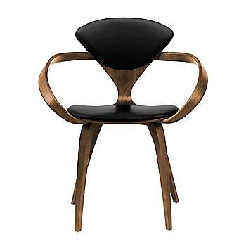 Natural Walnut Seat & Legs, Solid Walnut Arms / Sabrina Leather Black