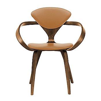 Natural Walnut Seat & Legs, Solid Walnut Arms / Sabrina Leather Monarch