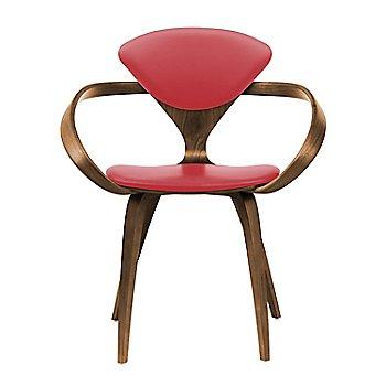 Natural Walnut Seat & Legs, Solid Walnut Arms / Sabrina Leather Carmen