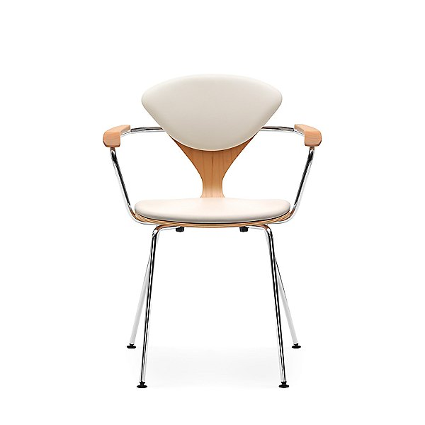 Cherner Seat and Back Upholstered Metal Base Armchair