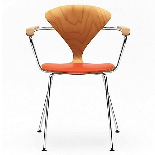Cherner Metal Base Armchair with Seat Pad