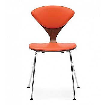 Cherner Seat and Back Upholstered Metal Base Chair