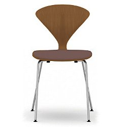 Cherner Metal Base Chair with Seat Pad