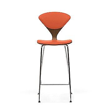 Natural Walnut frame / Sabrina Leather Robotic Orange Upholstery