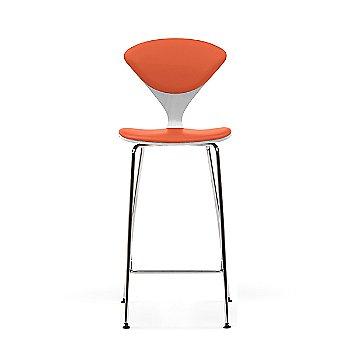 White Lacquer frame / Sabrina Leather Robotic Orange Upholstery