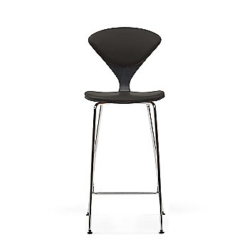 Ebony (Ebonized Walnut) frame / Vincenza Leather VZ-BLCK Upholstery