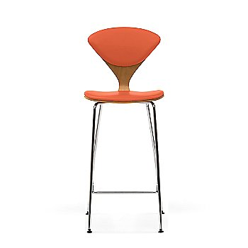 White Oak Rift Cut frame / Sabrina Leather Robotic Orange Upholstery